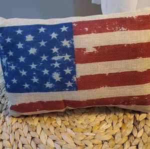 Usa Flag burlap cushion